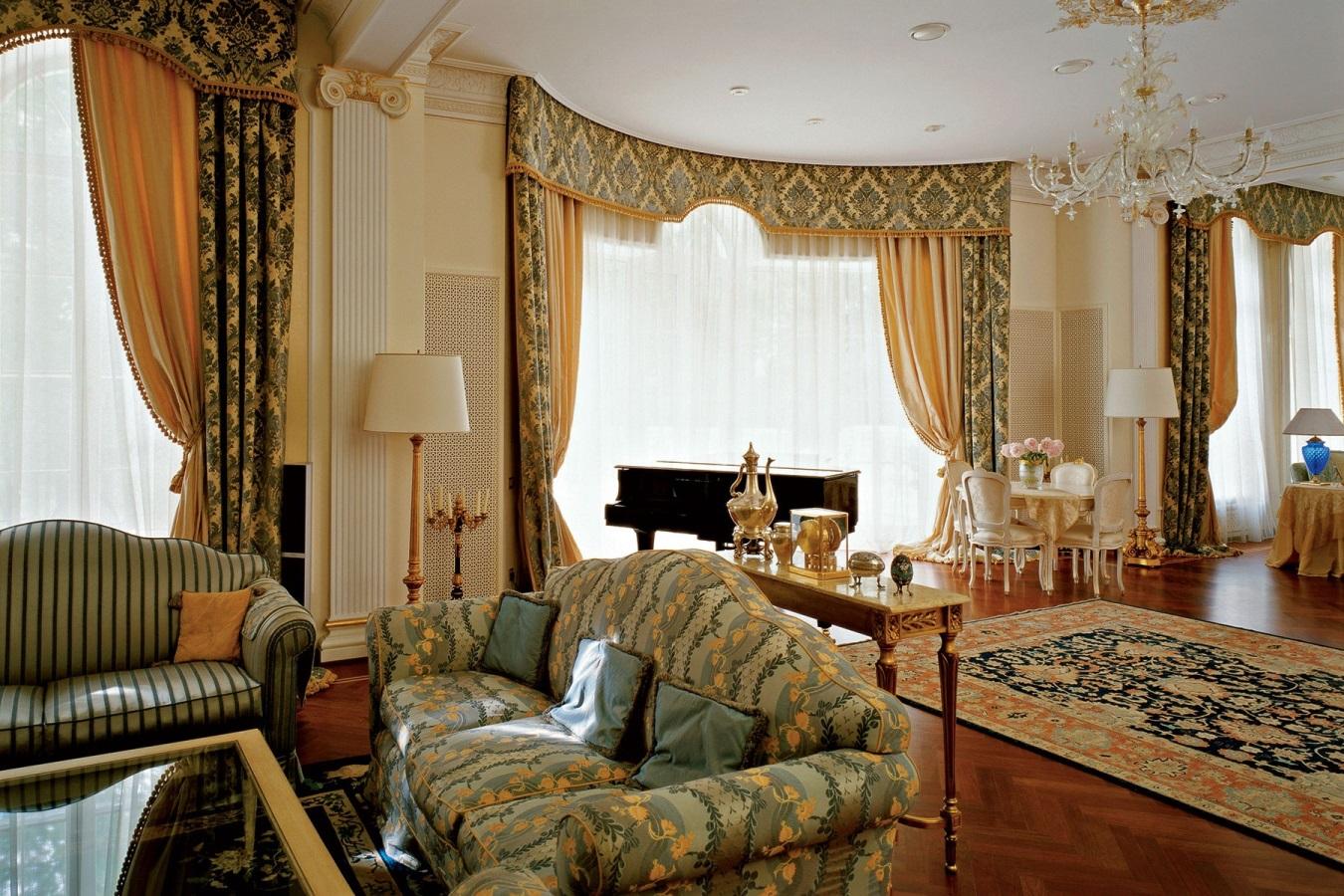 для рабочего шторы для гостиной в классическом стиле фото для визуализации