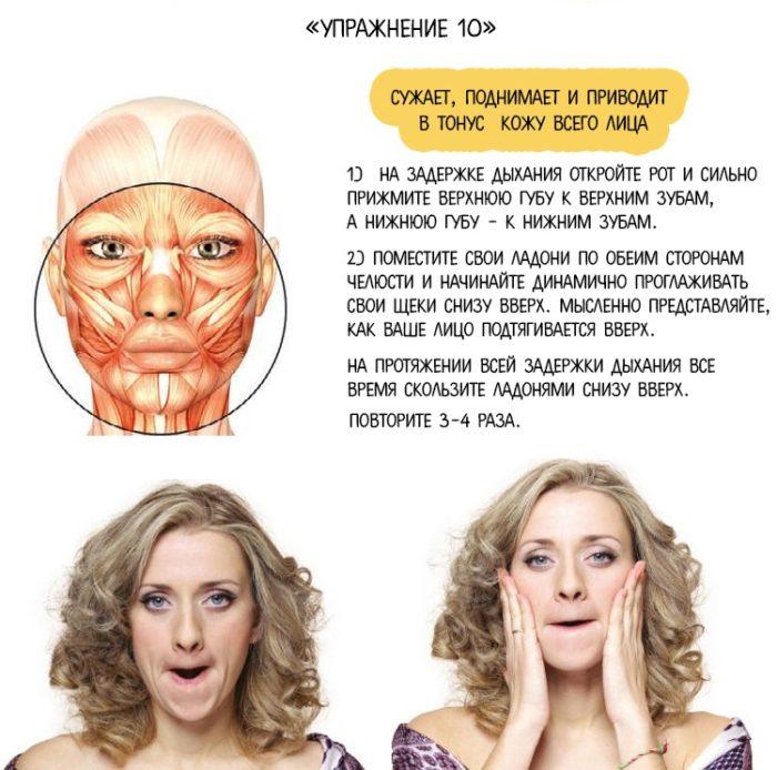 упражнение для мышц лица с картинками клипарт женские