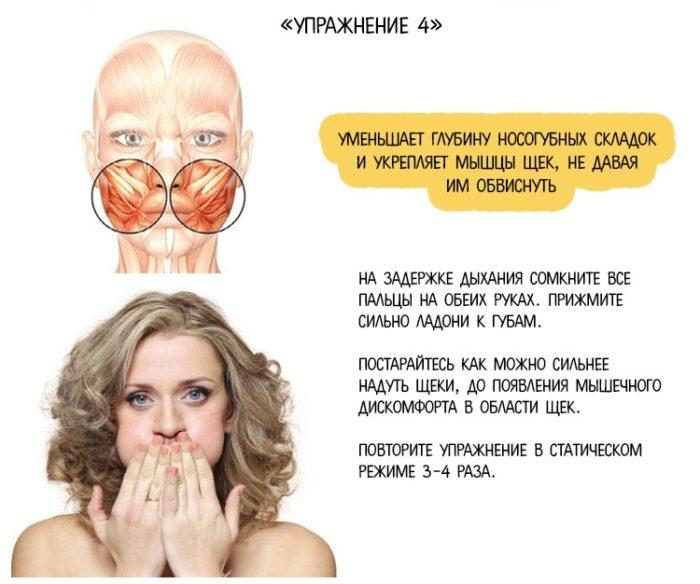 упражнение для мышц лица с картинками каждого нас