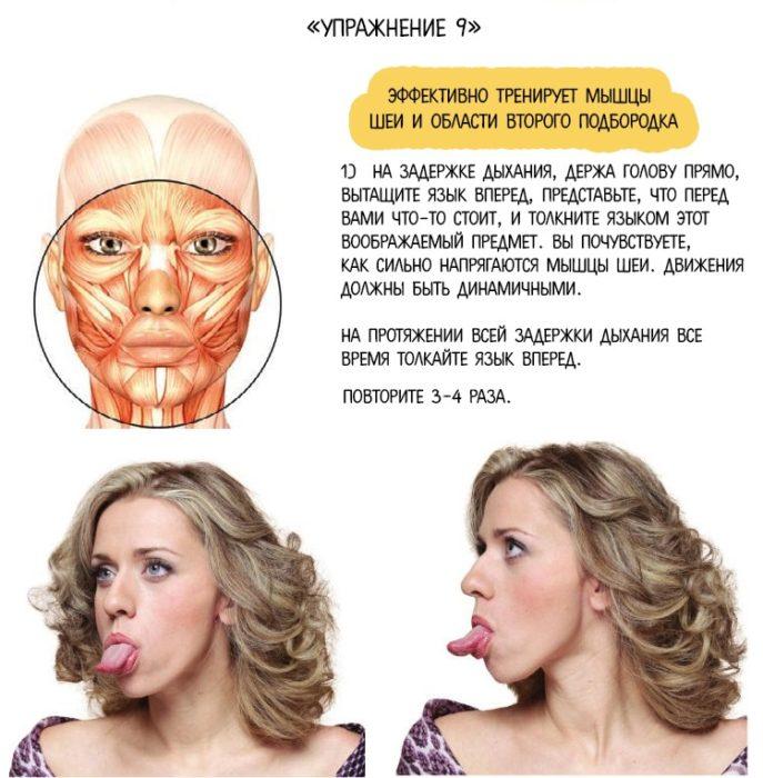 похудение шеи и овала лица