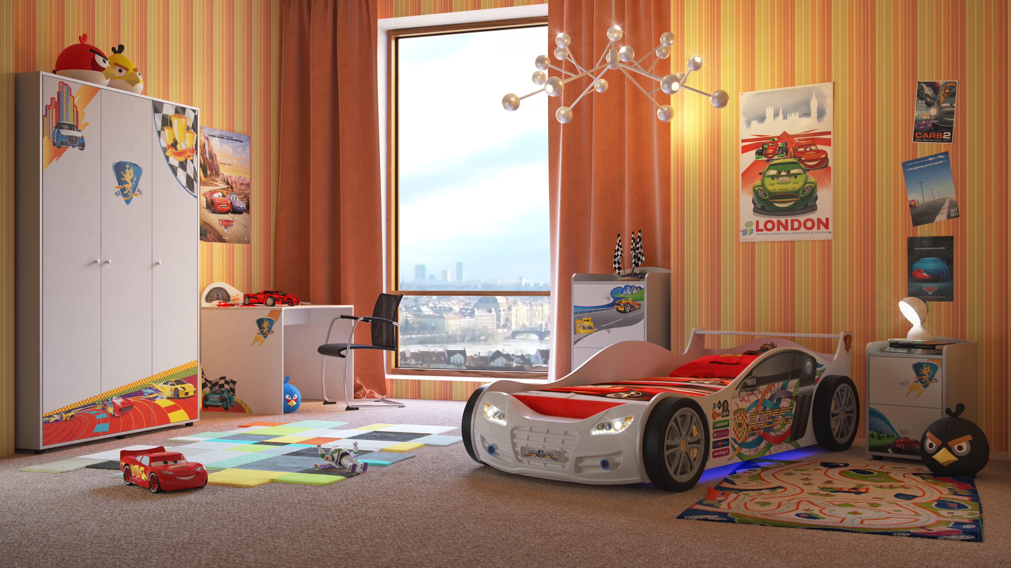 Какой цвет в комнате у мальчика