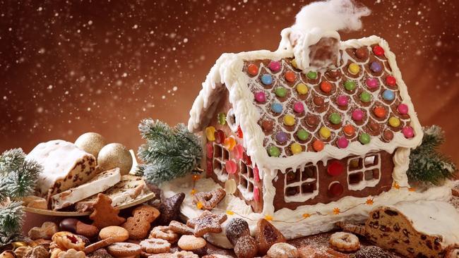 Пряничный домик из соленого теста своими руками фото 479