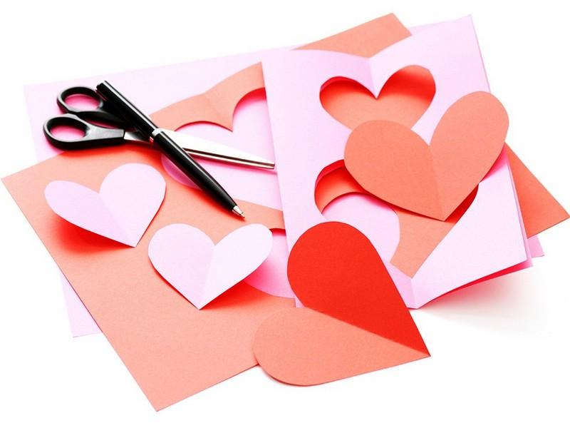 Открытка на день святого валентина своими руками из бумаги и картона