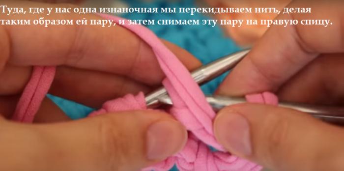 8-bezymjannyj-700x348 Вязание из трикотажной пряжи. Вязание из трикотажной пряжи крючком , фото, схемы, пошаговая инструкция, вязаный рюкзак, клатч, корзинки