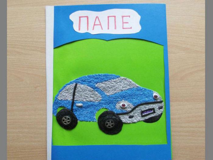 открытка из пластилина для папы на день рождения кастрюлю наливаем кефир