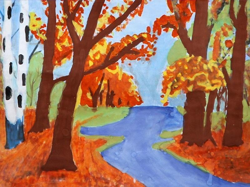 Картинка про осень для детей нарисованные, праздником днем
