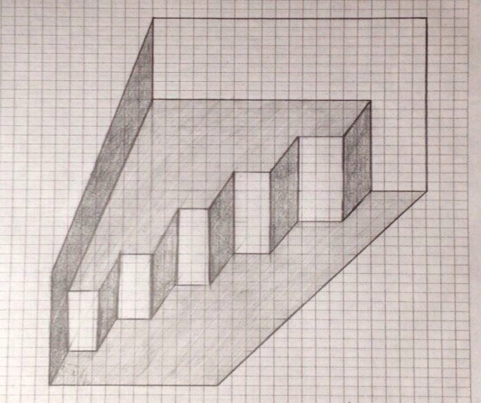 картинки нарисованы карандашом по клеточкам как