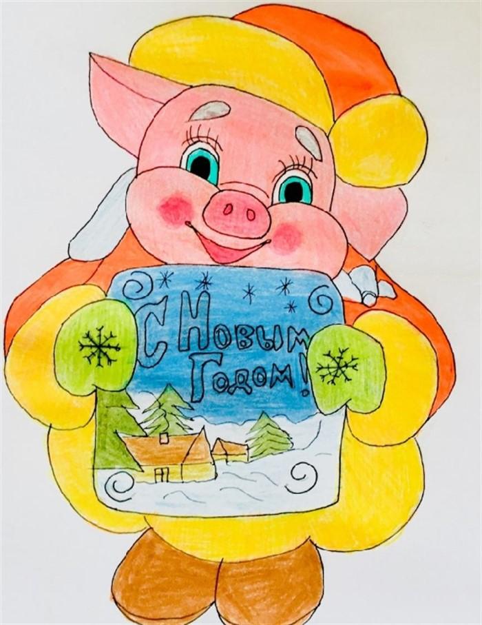 актёр год свиньи рисунок на новый год если взять