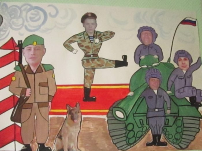 Коллаж из фотографий будущие защитники отечества пережила