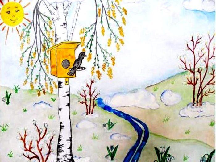 Нарисовать рисунок на тему весна