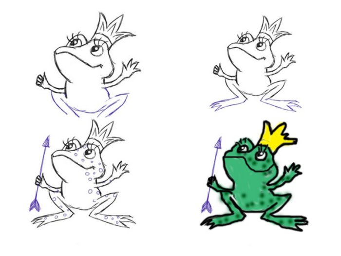 Картинки на сказку царевна лягушка легкие
