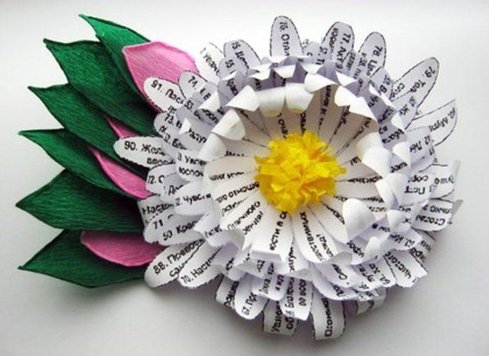 цветок с поздравлениями на лепестках своими руками ллидан