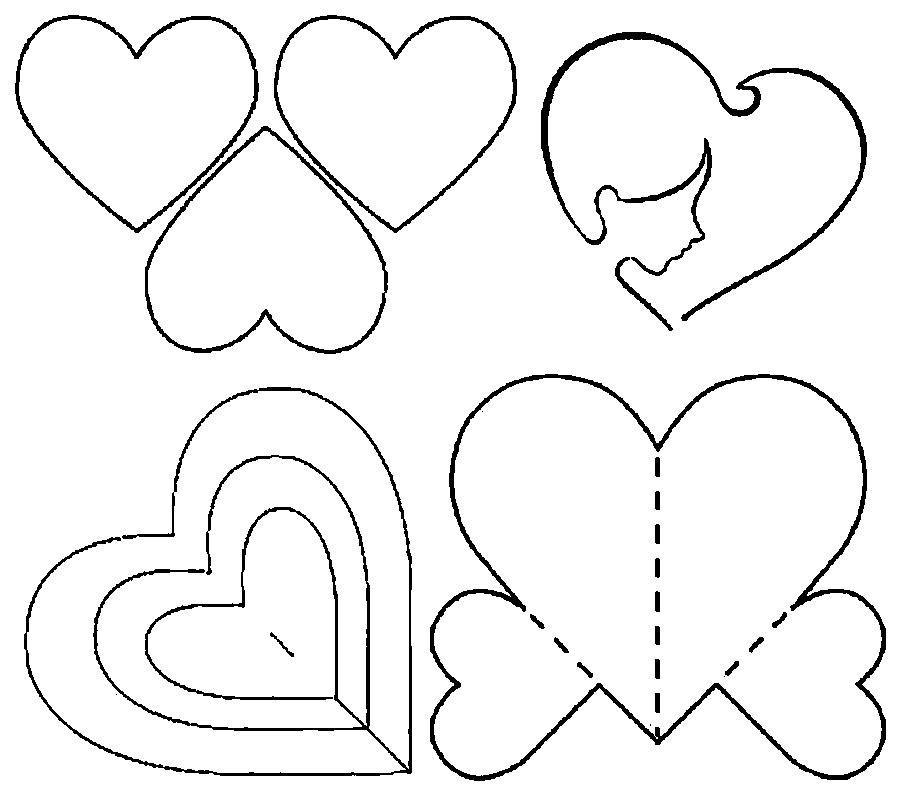 Как сделать открытку в виде сердца из бумаги