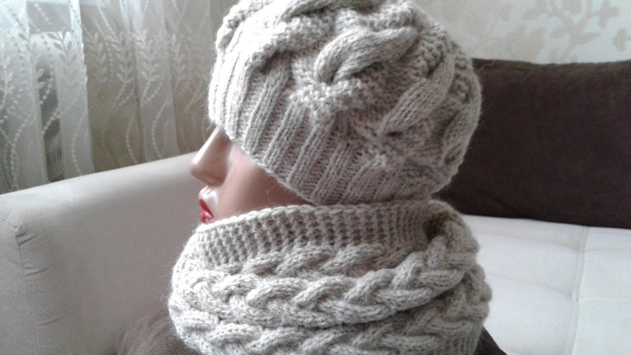 шапка снуд спицами схемы вязания новинки вязания снуда 2019