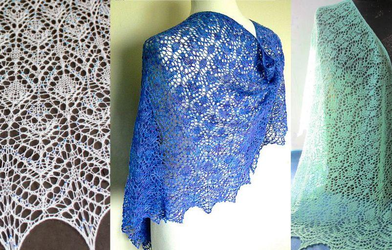 шали палантины вязание как связать красивый ажурный палантин шаль