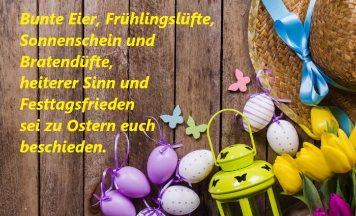 Открытка на немецком языке с пасхой