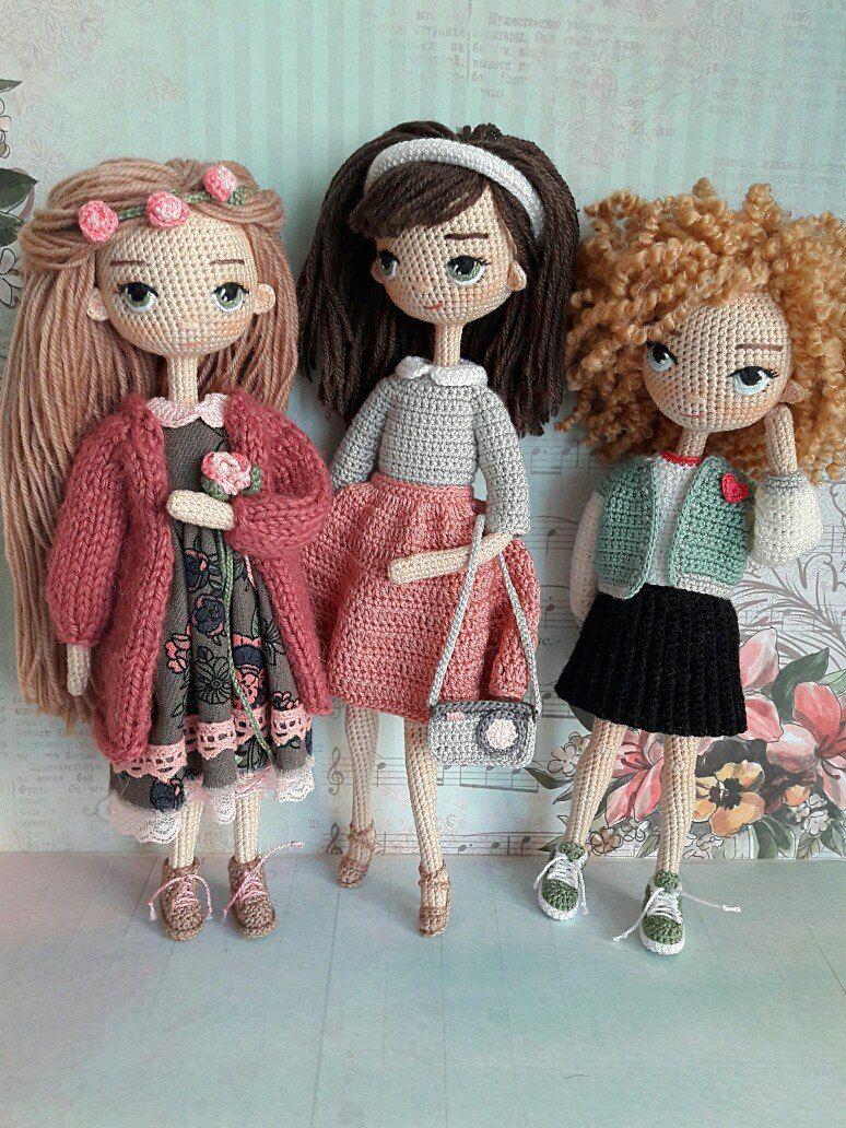 Вязание куклы спицами схемы и описание для начинающих