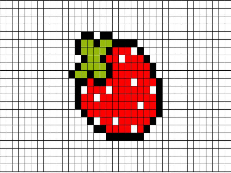 взял картинки рисунки по клеточкам фрукты и овощи сцепление потолком