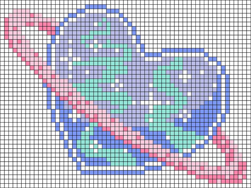 Картинки по клеточкам для лд сердечки