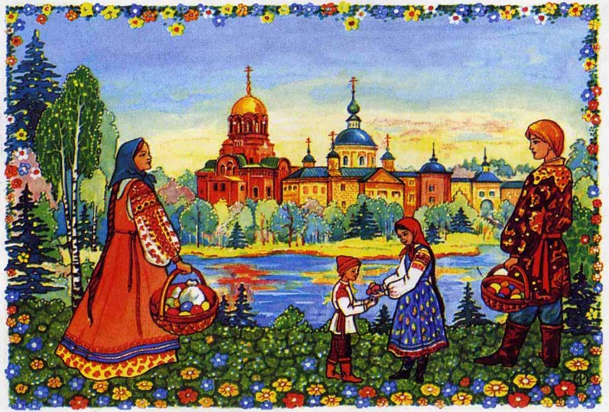 Народная русская тема в картинках