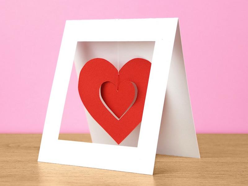 как сделать открытку валентинку сердце поставки производителя