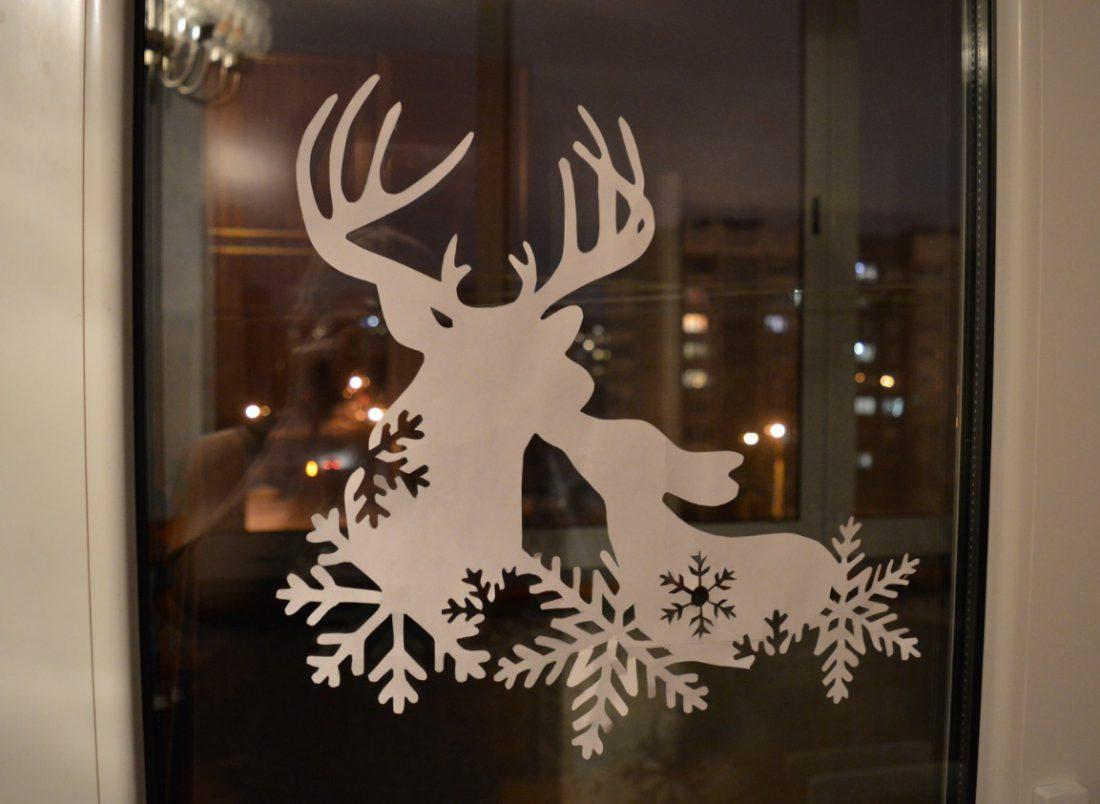 Красивые картинки на стекло новый год