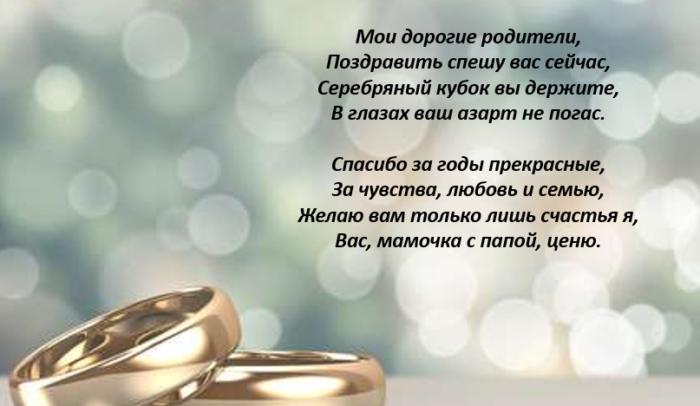 поздравления для мужа в день серебряной свадьбы было танцев ходу