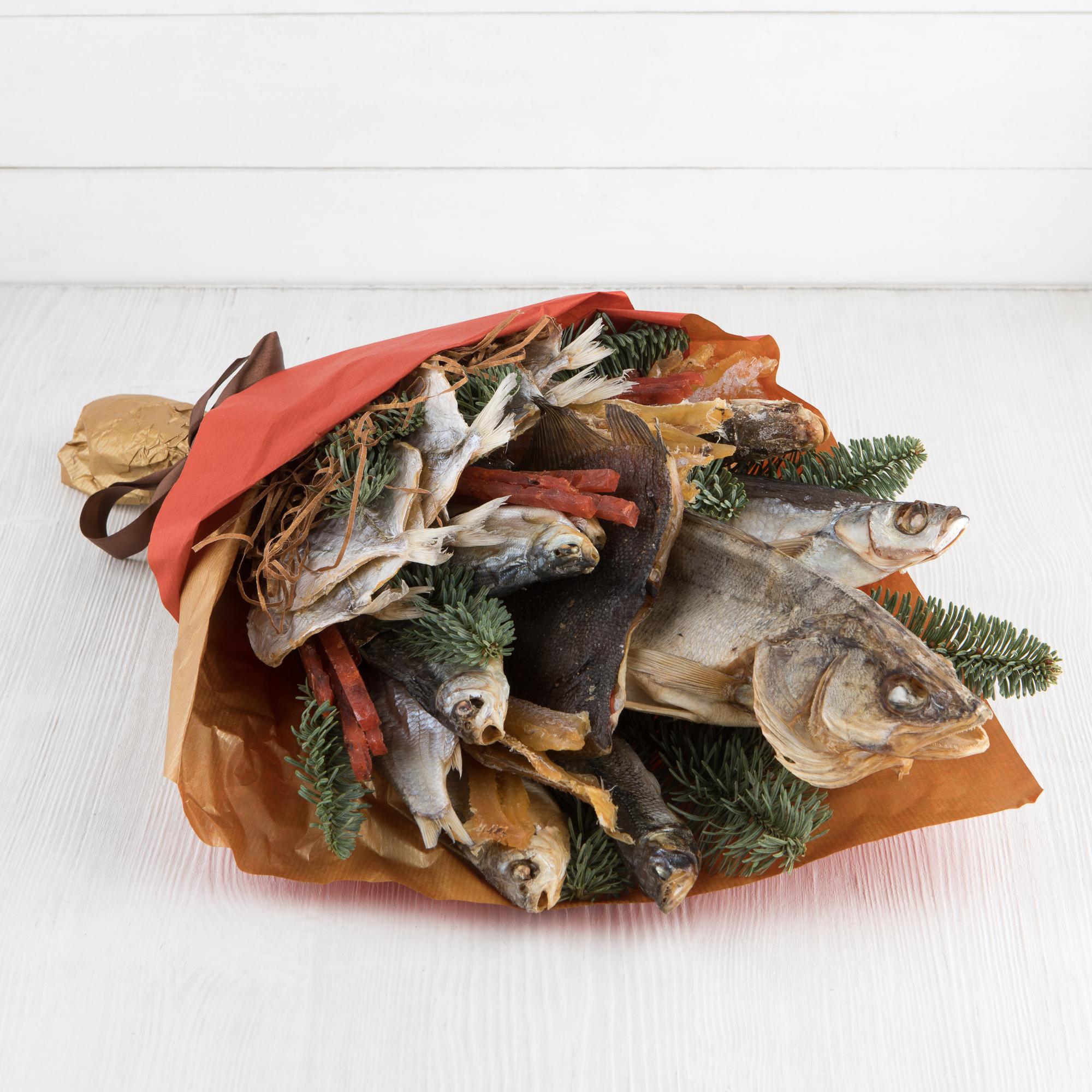 Букет из вяленой рыбы своими руками, невесты как