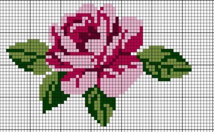 cvety-sh6-1-700x433 Уроки вышивка крестом для начинающих : пошагово, для детей, легкие схемы, маленькие картинки. Схемы вышивания крестиком для детей, любителей, мастериц