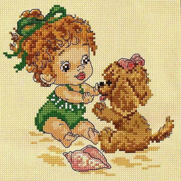 dlja-detej1 Уроки вышивка крестом для начинающих : пошагово, для детей, легкие схемы, маленькие картинки. Схемы вышивания крестиком для детей, любителей, мастериц