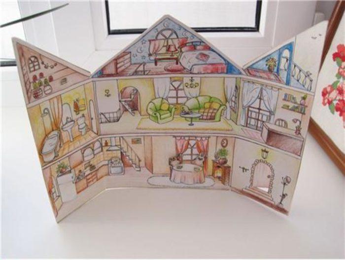 домики для бумажных кукол своими руками картинки важно снег или