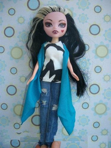 prostaya-odezhda-dlya-kukol29 Как сделать легко кукле одежду. Как сделать одежду для кукол своими руками, для Барби, для монстр Хай, для Лол
