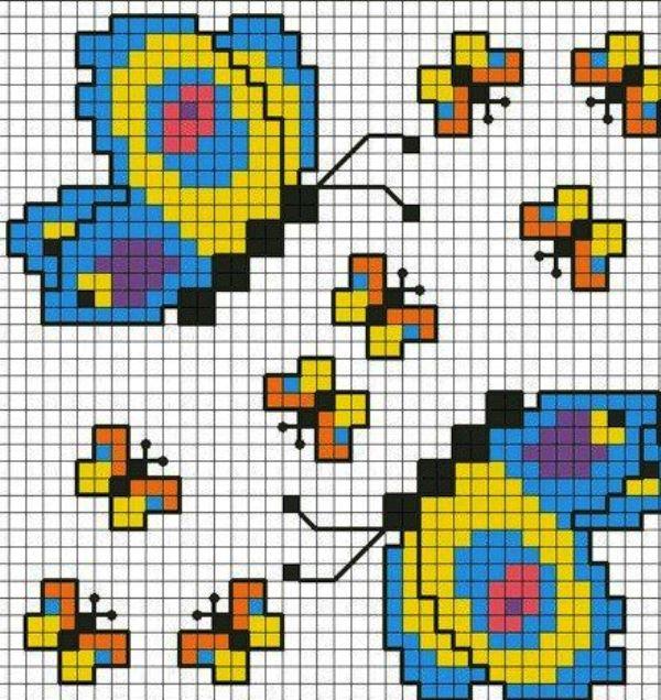 prostye5 Уроки вышивка крестом для начинающих : пошагово, для детей, легкие схемы, маленькие картинки. Схемы вышивания крестиком для детей, любителей, мастериц