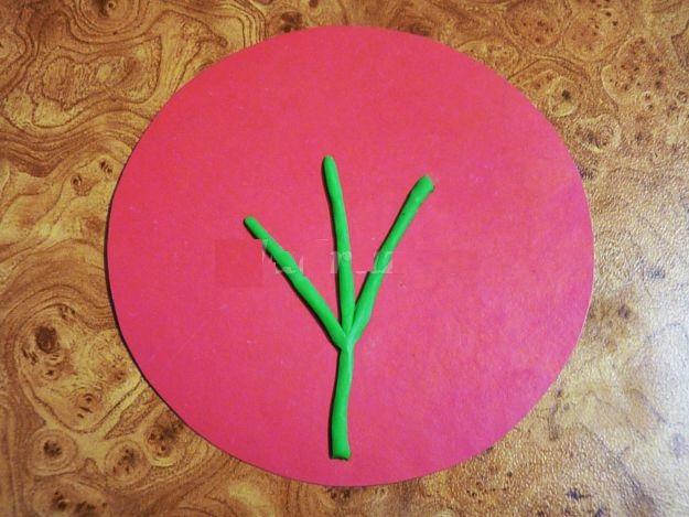 2627_2ff87fcc024784289a2972a9d456f9a6 Аппликации из пластилина для детей, на картоне, шаблоны, жгутиками, в детский сад, в школу. Поделка аппликация из пластилина, к 8 марта, 23 февраля, 9 мая День Победы