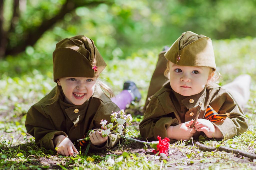 фото с днем победы с детьми курган известен всем