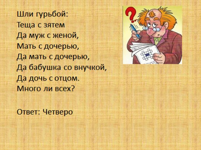 Загадка со смыслом и ответом