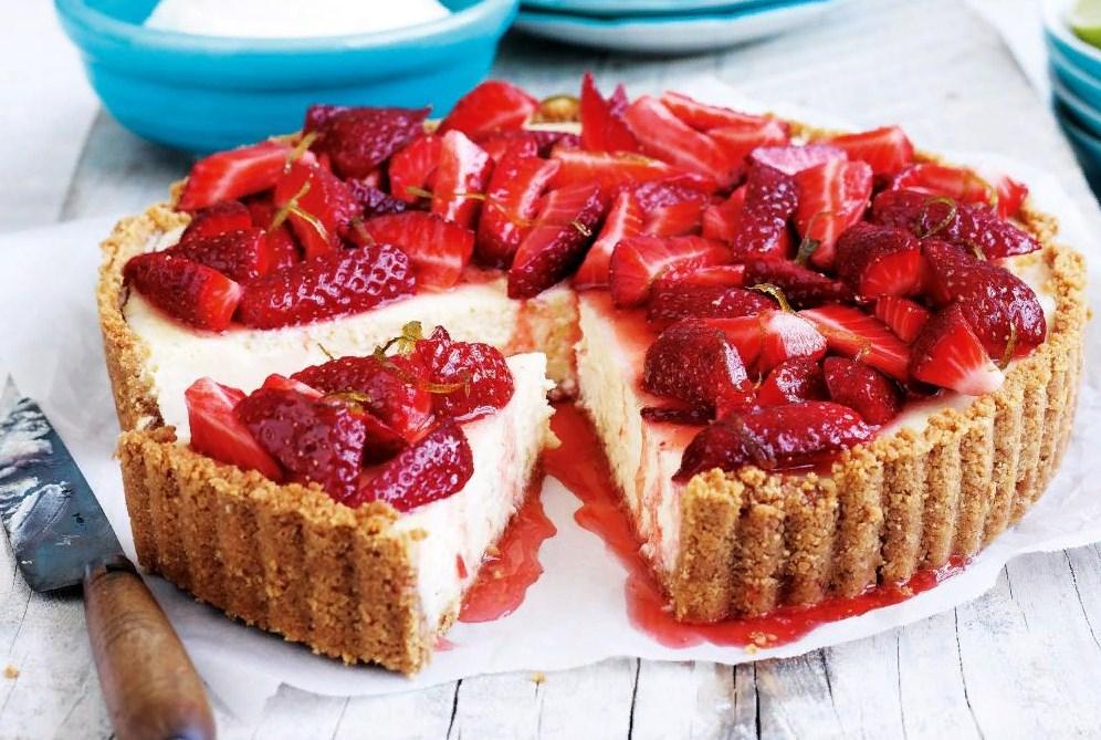Пирог со свежей клубникой рецепт с фото