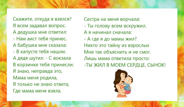 Стихи для девочки 2 класса на конкурс чтецов