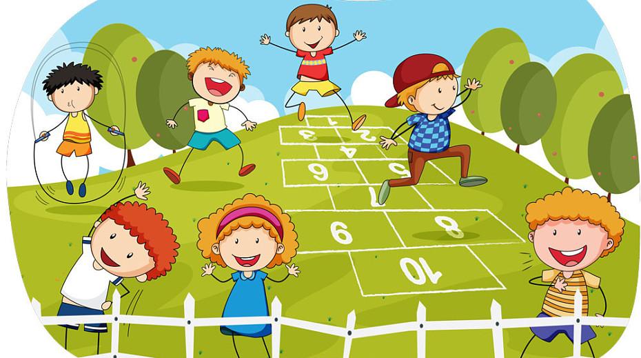 Дети на улице играют картинки для детей
