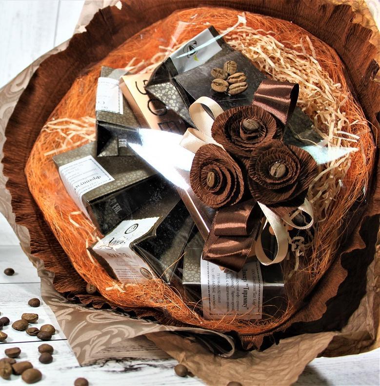 Букеты из кофе в картинках
