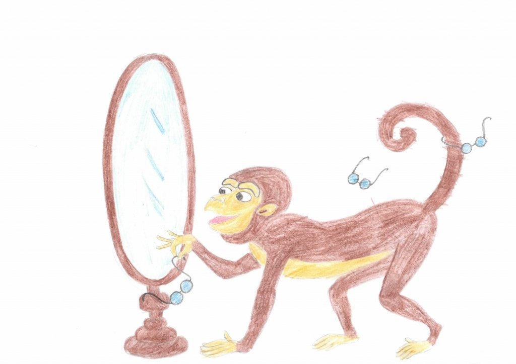 Картинка басни крылова мартышка и очки