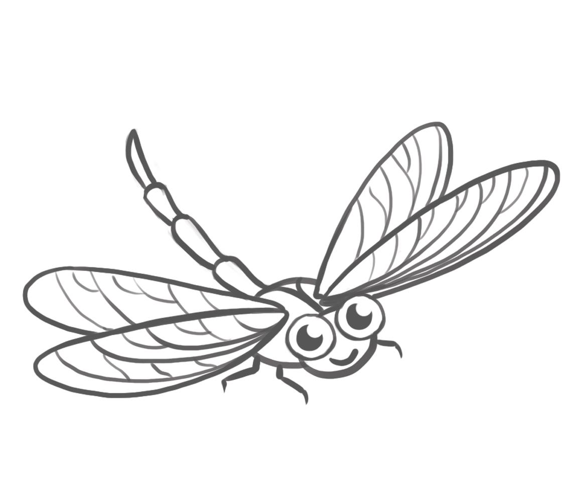 картинка стрекоза и муравей карандашом творения объединяет одно