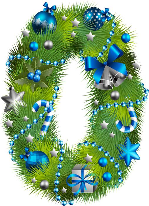 Цифры в картинках для нового года
