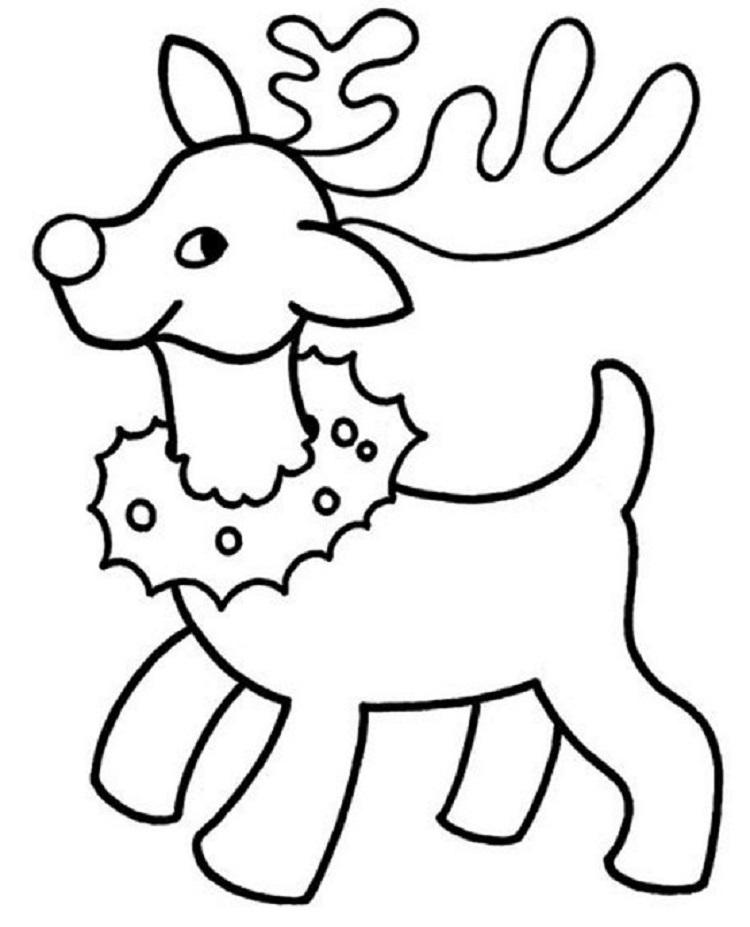 картинка новогодние олени распечатать персидского поэта