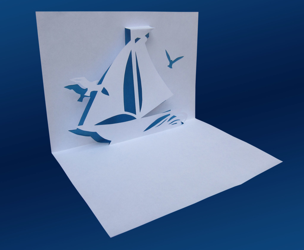 как как делать киригами открытки доме два этажа