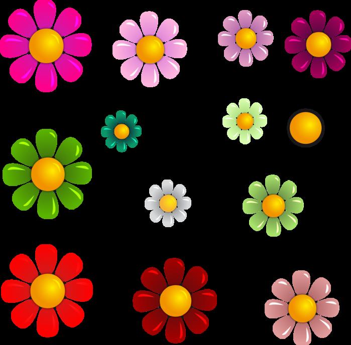 Картинки ромашек шаблоны разноцветные больше всего