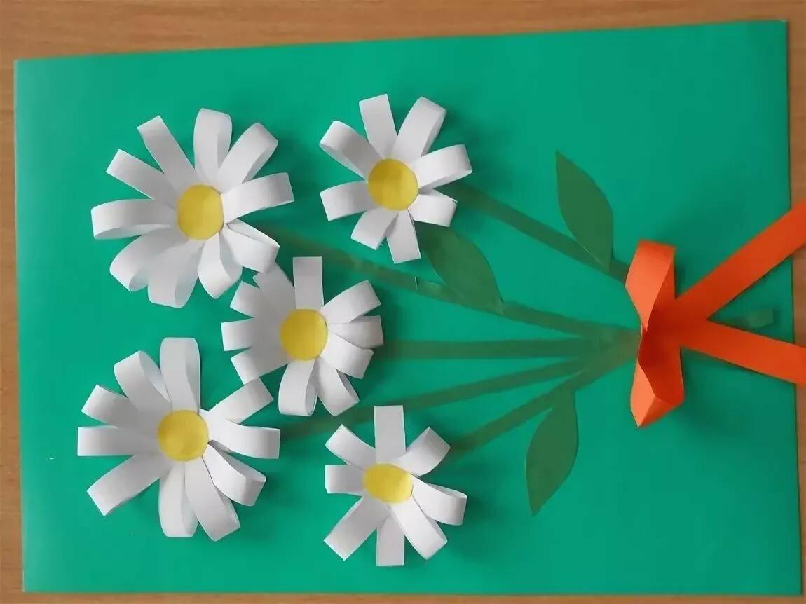 конспект занятия открытка с цветами друзья