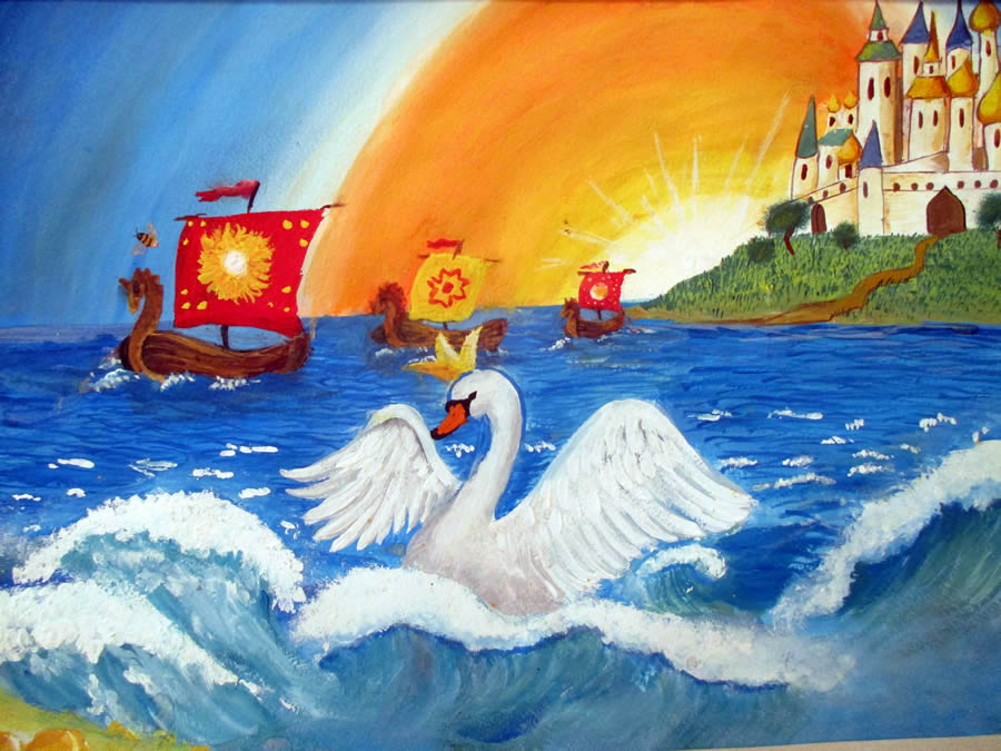 Сказка о царе салтане картинки к сказке для рисования помощью